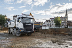 Camion Scania chantier