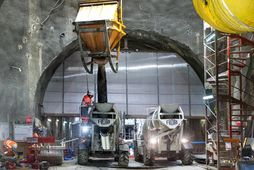 Chantier Eole RER E tunnel percement traditionnel