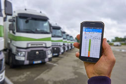 Interface mobile d'Optifleet de Renault Trucks
